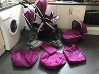 Oyster Max Double Tandem Pram and Stroller