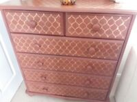 Upcycled Chest of Drawers and matching mirror