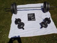 Weight training set.