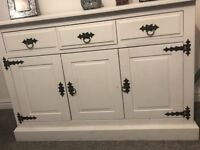 Shabby chic sideboard and cabinet