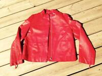 Betty Barclay Ladies Red Leather Jacket