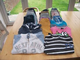 LARGE COLLECTION OF NEXT BOYS CLOTHES AGE 3-5 YEARS