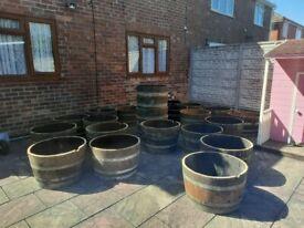 Oak Wine Half Barrels £22 Each