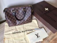 Louis Vuitton speedy 25. 100% authentic comes with receipt box dustbag padlock 2keys