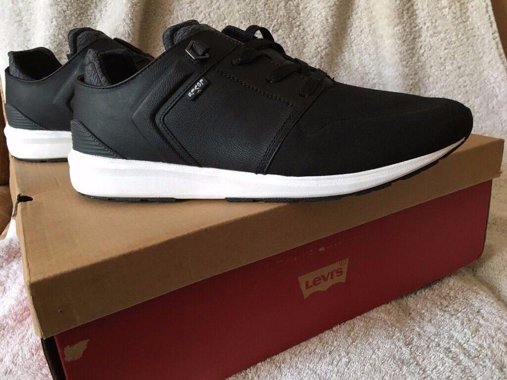 Skate shoes edinburgh - Levi S New Mens Black Tab Runner Shoes Uk 7 5
