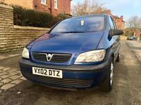 2002 Vauxhall Zafira 1.6 Reliable. 7 Seater. Mpv. Drives Superb. 12 Months MOT