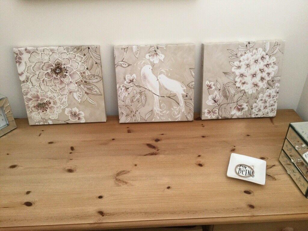 3 medium sized canvas print set in fareham hampshire gumtree