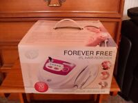 The Forever Free Intense Pulsed Light hair remover uses the latest Intense Pulsed Light (IPL)