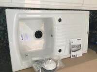 Gorgeous - Blanco White Ceramic 1.0 Bowl Sink (New / Unused)