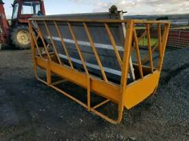 Cattle silage box feeder with double trough farm livestock tractor