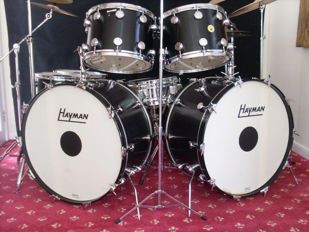 Hayman Vibasonic Vintage Cust0m Built 26 Double Bass Drum