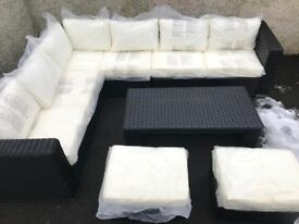 Conservatory Outdoor Rattan Garden Furniture Set Yakoe Papaver - Delivery Available