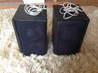 JVC black speakers x2
