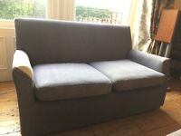 Blue 2 seater sofa, in used condition FREE collection from Bath