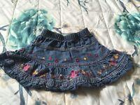 Denim Skirt Baby Girls 9-12 Months