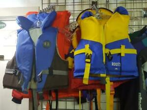 A Great Selection of Pre-Owned Life Jackets and Wetsuits at Trailblazers in Cochrane Calgary Alberta Preview