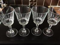 4 lovely crystal wine glasses
