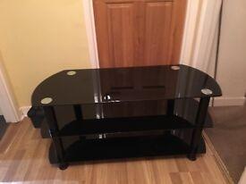 Tv Stand glass black