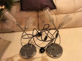 Pair of contemporary style table lights