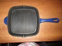 Cast Iron Griddle Pan (Blue)