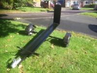 Custom made heavy duty motorbike trailer with ramp. Brand New wheels and tyres with lighting board