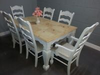 Gorgeous Extending Table and 6 chair Set - Bespoke