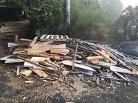 Free scrap timber. Good for wood burning stove