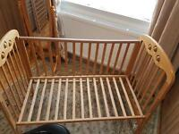 Baby Cot Bed Convert To Junior-sofa Bed+play beads