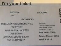 Take That Tickets x 4 Dublin Tuesday 16 May 2017 at 3Arena - Will Sell In 2's If Required