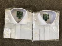 Boy's Full collared white kilt shirts