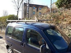 Roof rack for berlingo/kango will carry 8ft x 4ft boards