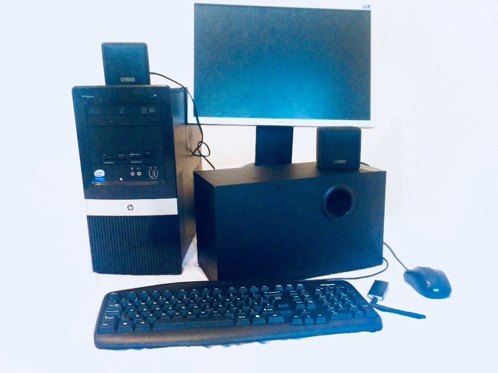 "4mnths used Intel Quad Core AllInOne desktop Free LCD monitor 17"" Free + Desktop theatre speakers"