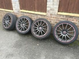 """18"""" Wolfrace ProLite Black Alloy Wheels and Tyres, 10 Stud"""