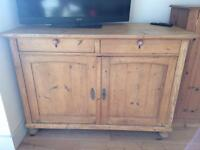 Old pine freestanding large kitchen sideboard cupboard