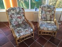 Cane / Rattan Easy Chairs