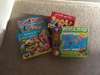 Games and puzzle monopoly, orchard toys