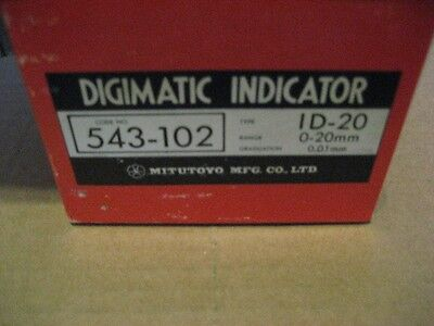 Mitutoyo 543-102 0-20mm Digimatic Indicator Aa8302-1