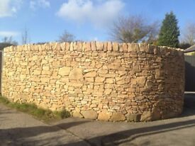 High Quality Sand Stone and MOT. Garden Feature. Hard Standing. Dry Stone Walls.