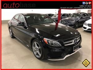 2017 Mercedes-Benz C-Class C300 4MATIC PREMIUM SPORT LED CLEAN C