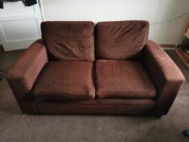 Chocolate 2-Seater NEXT sofa, £Free