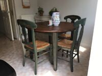 Farmhouse French dining table and chairs