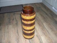 A West German ceramic vase.