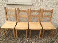 4x Ikea (Ivar) dining room chair