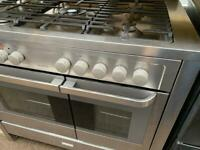 Stainless steel Electrolux 100cm dull full cooker grill & double fan assets ovens with guarantee