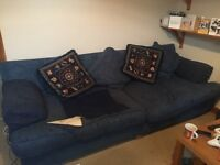VERY LARGE BLUE SOFA FREE TO GOOD HOME!