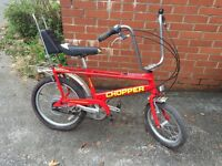 Collectible Raleigh Chopper MK3 (Mark 3) Red and Very Rare!