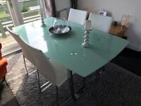 Large Glass table x4 Chairs