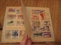 Stamp Collection Item 6 Small Album 1940's stamps/sets including 9 x India, 19 x Russia, 1 x German