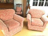 FREE Pair of armchairs and footstool storage stool