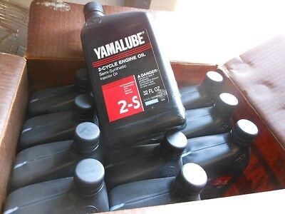 12 Quarts Yamaha Yamalube 2-S 2 Cycle Engine Injector Oil Semi-Synthetic